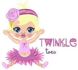 Twinkle Toes embroidery design