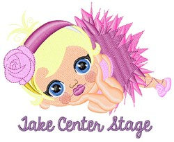 Take Center Stage embroidery design