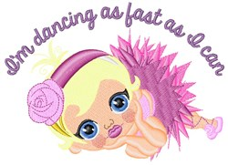 Im Dancing embroidery design