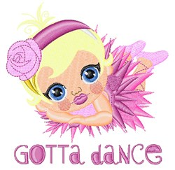 Gotta Dance embroidery design