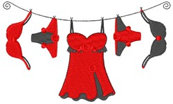 Lingerie Clothesline embroidery design