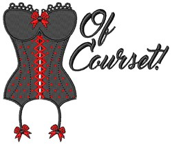 Of Courset embroidery design