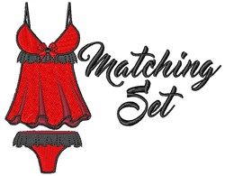 Matching Set embroidery design