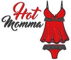 Hot Mama embroidery design