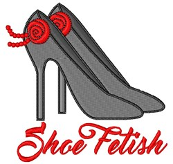 Shoe Fetish embroidery design