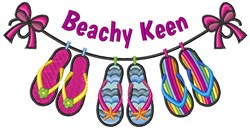 Beachy Keen embroidery design