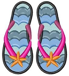 Summer Flip Flop embroidery design