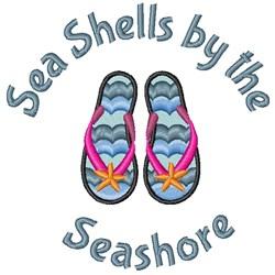 Sea Shells Seashore embroidery design