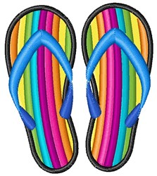 Rainbow Flip Flop embroidery design