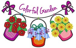 Colorful Garden embroidery design