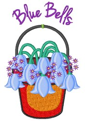 Blue Bells embroidery design
