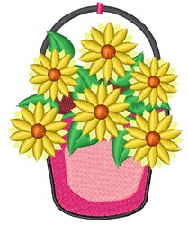 Daisy Bucket embroidery design