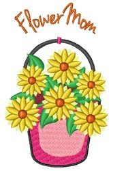 Flower Mom embroidery design