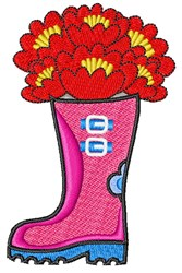 Flower Boot embroidery design