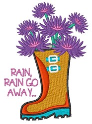 Rain Go Away embroidery design