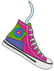 High Top Shoe embroidery design