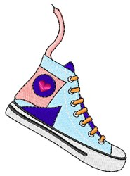 High Top Sneaker embroidery design