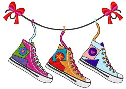 Shoe Clothesline embroidery design