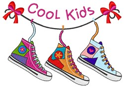 Cool Kids embroidery design
