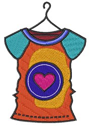 Heart Shirt embroidery design