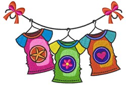 Shirt Clothesline embroidery design