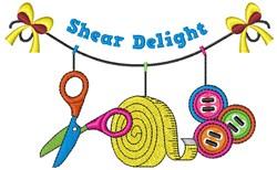 Shear Delight embroidery design