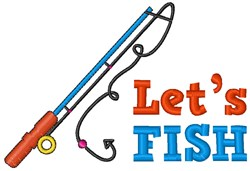 Lets Fish embroidery design
