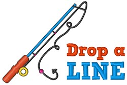 Drop A Line embroidery design