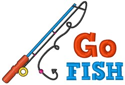 Go Fish embroidery design