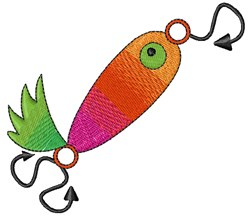 Fish Lure embroidery design