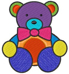 Colorful Teddy embroidery design