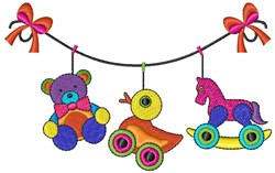 Toy Clothesline embroidery design