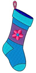 Flower Stocking embroidery design