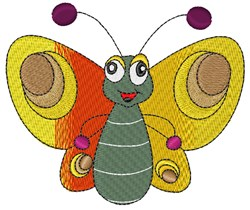 Happy Butterfly embroidery design
