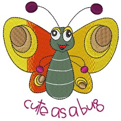 Cute As Bug embroidery design