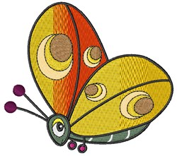 Butterly embroidery design