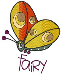 Fairy Butterfly embroidery design