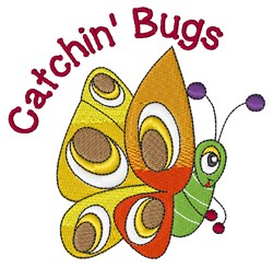 Catchin Bugs embroidery design