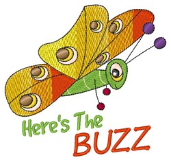 Heres The Buzz embroidery design