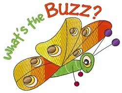 Whats The Buzz embroidery design