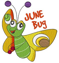 June Bug embroidery design