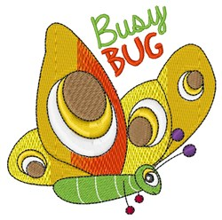 Busy Bug embroidery design