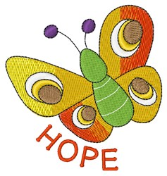Hope Butterfly embroidery design