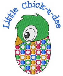 Little Chick-a-dee embroidery design