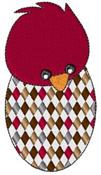 Diamond Egg Chick embroidery design