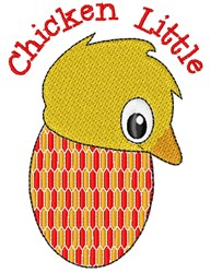 Chicken Little embroidery design