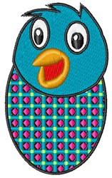 Bluebird Chick embroidery design