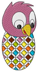 Colorful Egg Chick embroidery design