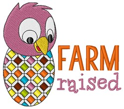 Farm Raised embroidery design