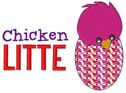 Chicken Little embroidery design